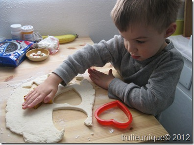kids in the kitchen, baking with kids, cutting out biscuits