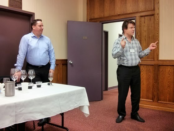 Stewart Risto and Glenn Fawcett present the tasting format