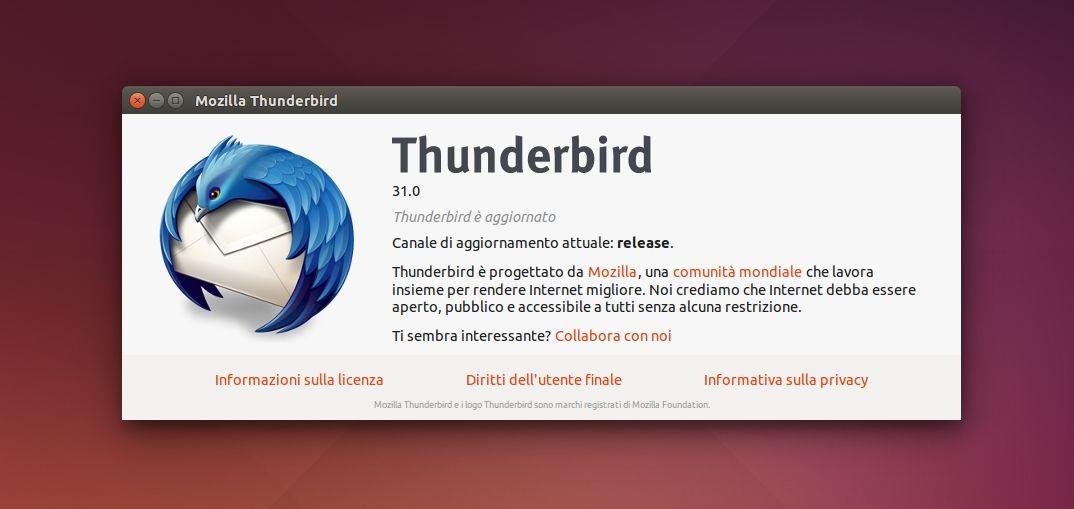 Mozilla Thunderbird 31