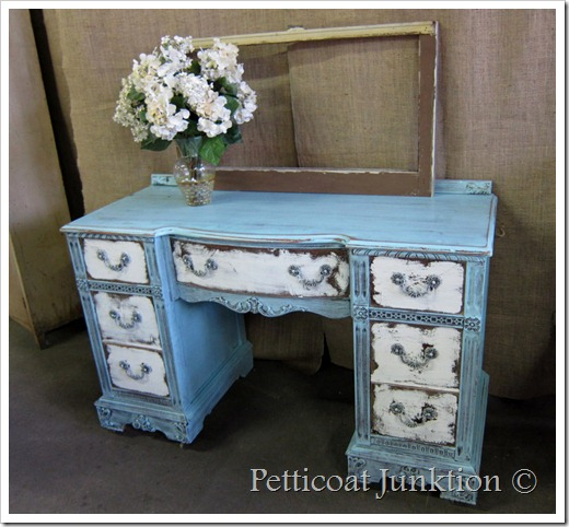 blue white painted distressed dresser furniture