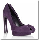 Alexander McQueen Purple Suede Pumps