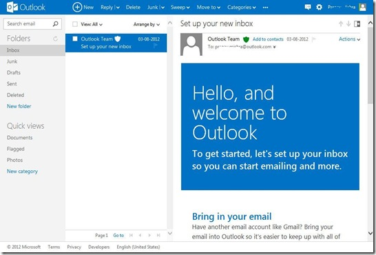 Outlook webpage1
