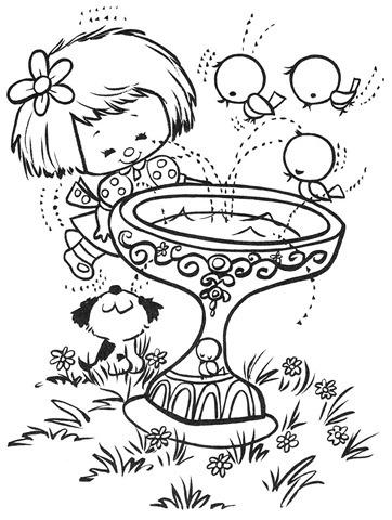 desenhos-colorir-menina-com-cachorrinho