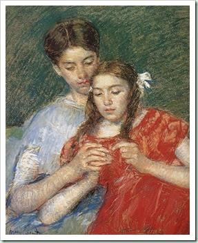 Mary Cassatt (1844-1926) Sewing Class