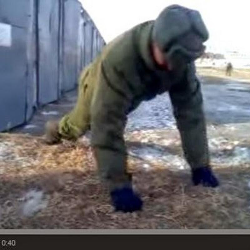 Ρώσοι στρατιώτες κάνουν  push ups