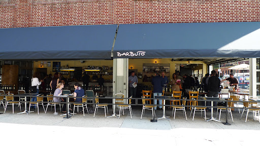 The exterior of Chef Jonathan Waxman's Restaurant, Barbuto.