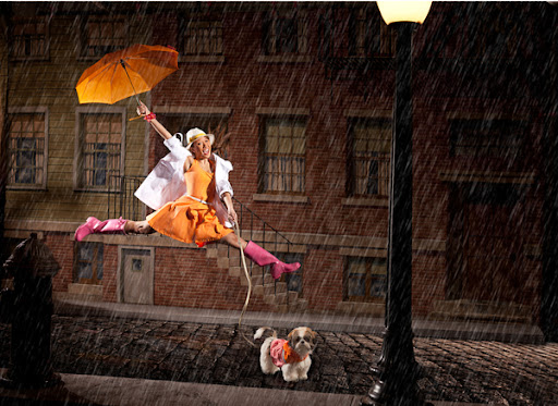 Just singing in the rain!