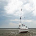 DSC01769-001.JPG - 19.06.2013. Wattenmeer (koło wyspy Baltrum); Ewa 3 na gruncie przy niskiej wodzie