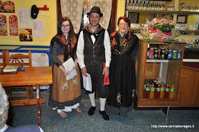 La rappresentanza del gruppo folkloristico.