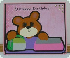 eveyln scrappy b day bear