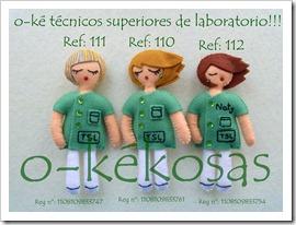 o-ké técnico superior de laboratorio. Ref: 110, 111 y 112.