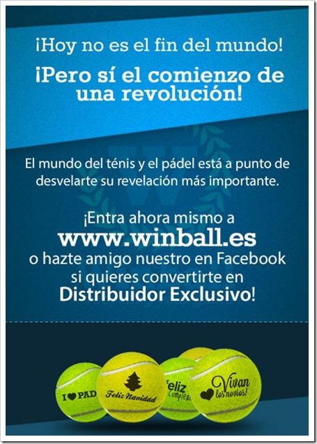 Próximamente: una revolución de la mano de WINBALL.ES. Informate sobre el nuevo proyecto.