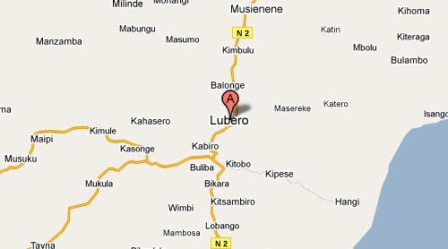 Carte de Lubero au Nord Kivu