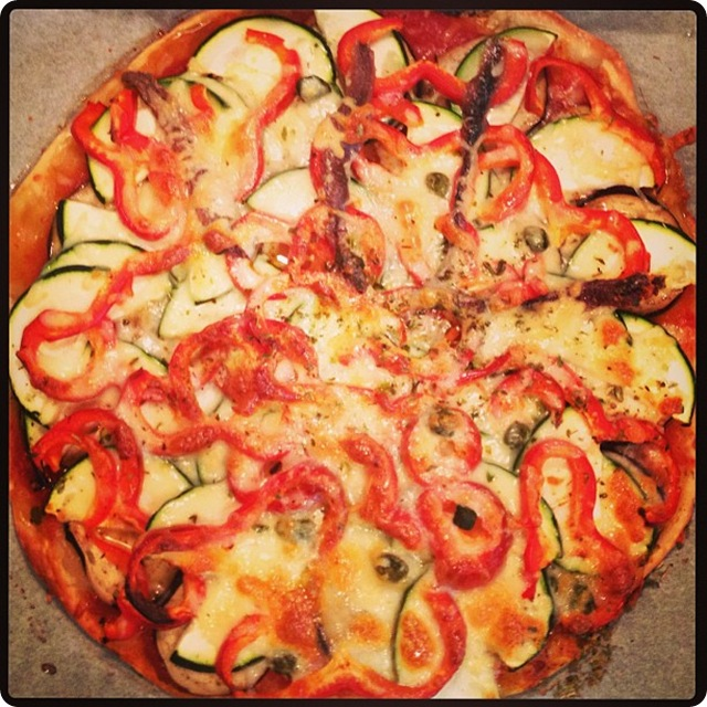 PIZZA VEGETAL EN CASA