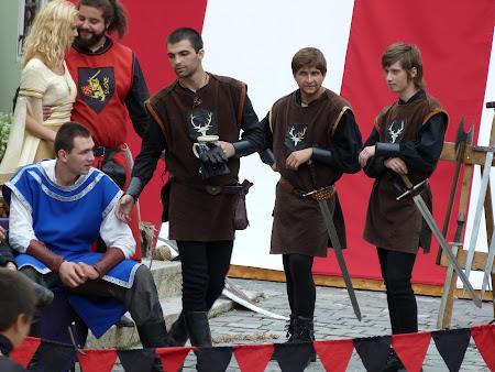 10. cavaleri medievali la Sighisoara.JPG