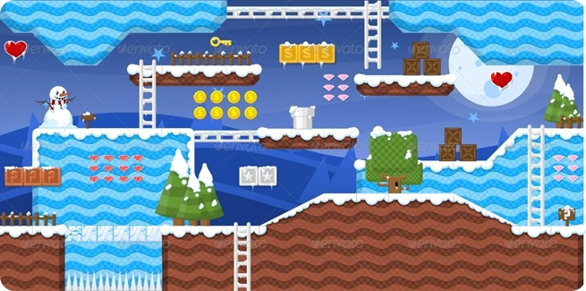 platformer tile set for sale