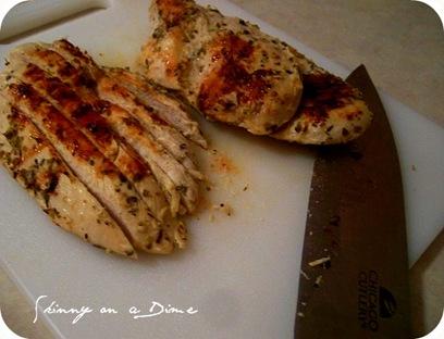 Chopped pita chicken