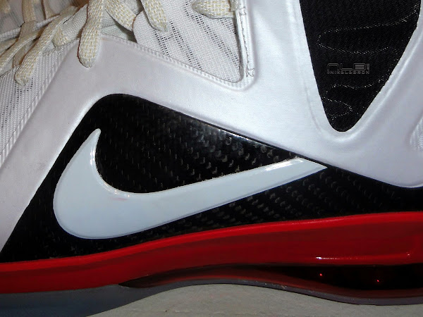 LBJ8217s Nike LeBron 9 PE Elite 8211 Miami Heat Home PE 8211 Close Up
