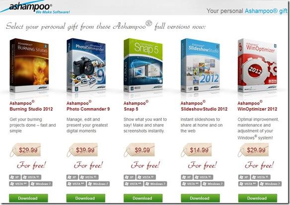 Programmi Ashampoo da scaricare gratis per Natale 2012