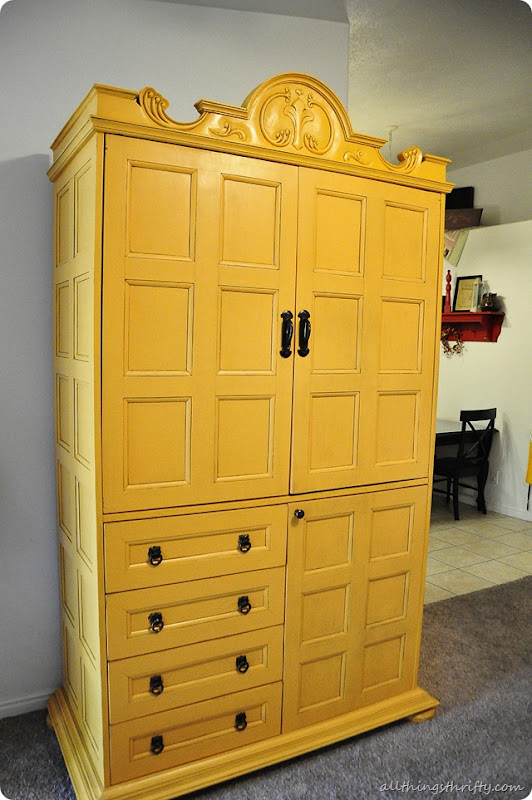yellow hutch refinished