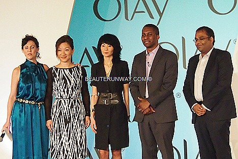 Maggie Cheung Olay Ambassador P&G Beauty Debate 2012 Singapore with Marie, Ellie Xie, Vince Hudson Rahul Asthana at Capella Hotel Sentosa