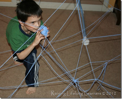 Making an Indoor Spider Web