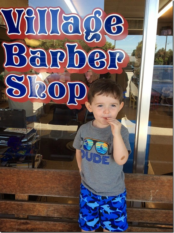 Knox at Village Barber Shop 6 14 14