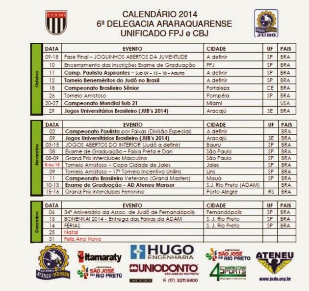 4º Trimestre 2014 - ATUALIZADO JULHO