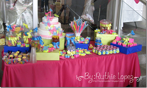 Bautizo - 1st Birthday Butterfly Themed - Butterfly Candy Bar - Baptism - Ruthie Lopez 6