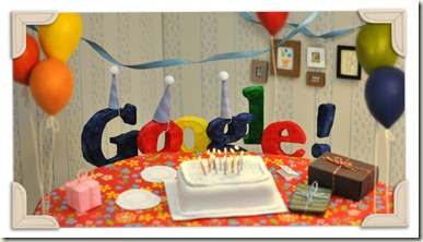 Googles 13th Birthday 2011