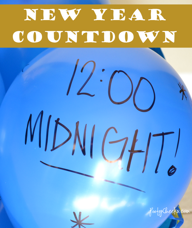 New Year Balloon Activity Countdown - Perfect for a kid friendly party!