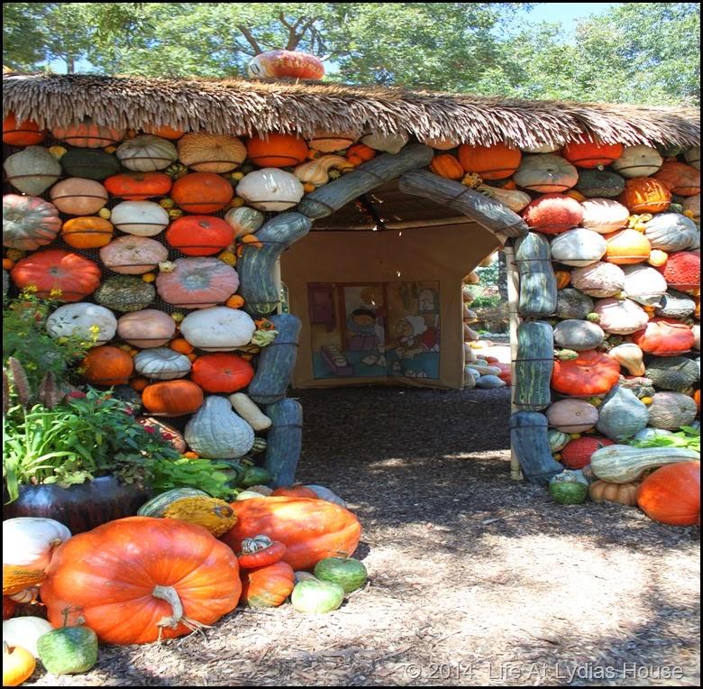 Dallas Arboretum - pumpkin festival-pumpkin house 3