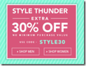 Jabong Style Thunder : Extra 30% OFF On 1 Lakh Products – No Minimum Purchase
