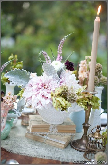 vintage-wedding-centerpieces primary petals and archive vintage rentals