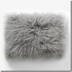 westelm mongolian lambskin pillowcover