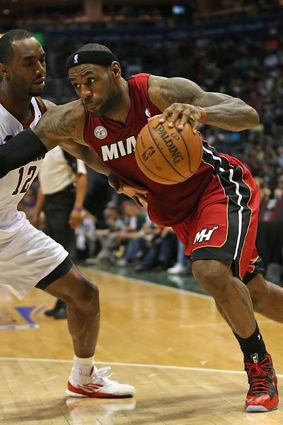 Heat Sweep the Bucks James Wears LeBron X PS Alternate PE