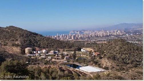 Vista de Benidorm desde Sierra Helada