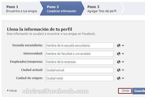 Editar información de perfil