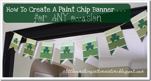 Paint Chip Banner How To