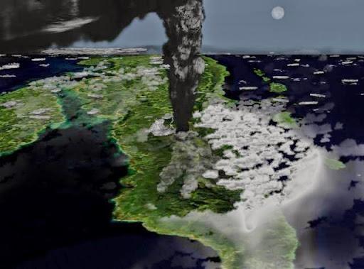 La erupción del volcán Toba
