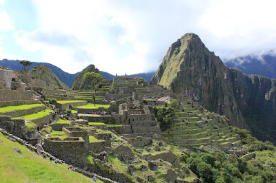 First view of Machu Picchu