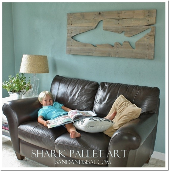 Pallet Art Shark