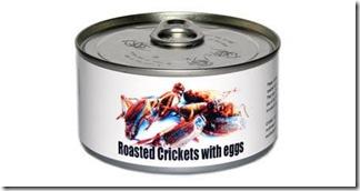 Enlatado - Grilos torrados com ovos