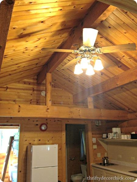 rustic cabin ceiling