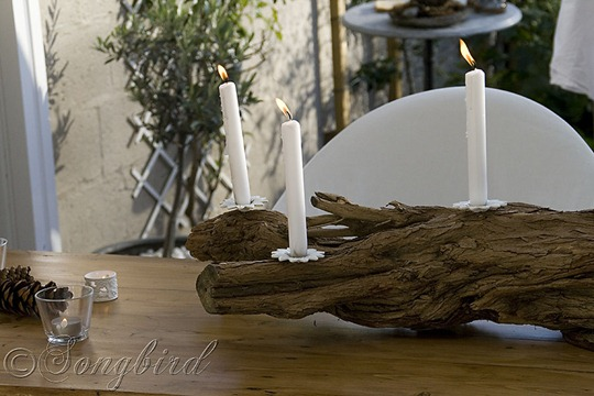 Tree Trunk Candle Stick 2