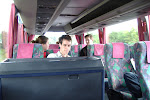 On the bus to Wroclaw.  The first of several long bus rides this trip.