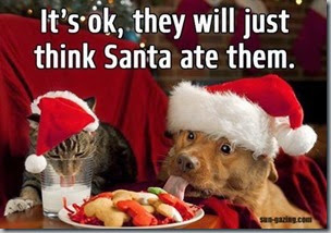 just think santa ate them