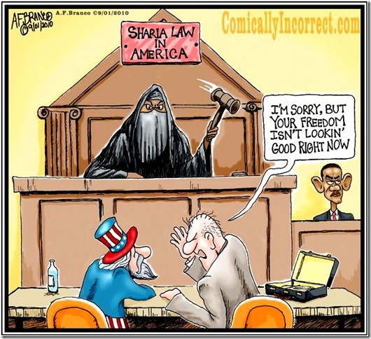 Sharia in America toon