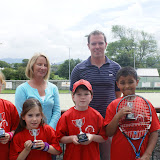 Winners U10 at the Junior West with coaches Jean and Alan