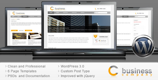 Corporate Business Wordpress Theme - Clean Web 2.0 - Business Corporate